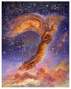 Come fly with us with your harp!
